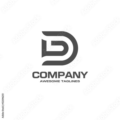 quotcreative letter d logo abstract business logo design