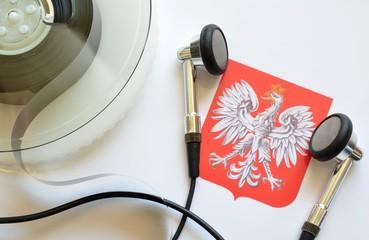 orzeł symbol Polski i taśmy