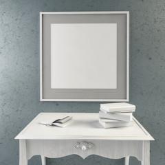 3d illustration, interior hipster