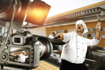 cook chef and camera