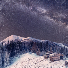 fantastic winter meteor shower and the snow-capped mountains. Vi