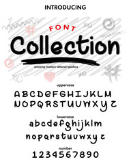 Typeface. Label. Collection  typeface, labels and different type designs