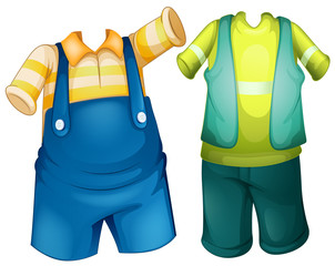 Children outfit in two designs