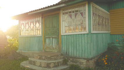 porch of a wooden house