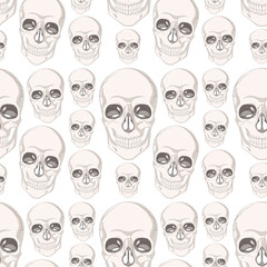 Seamless background design with skull