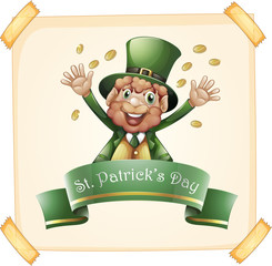St Patrick's Day with leprechaun and gold