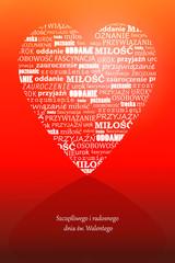 Walentynki, pocztówka - Valentine's Day
