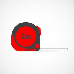 Measure roulette. Vector illustration.