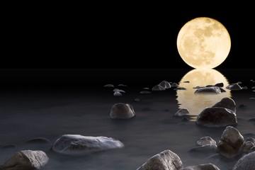 Super Luna sul mare