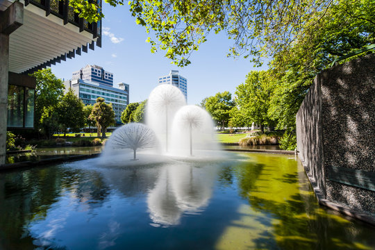 Christchurch New Zealand, Ferrier Fountain, Victoria Square