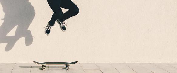 Man And Skateboard