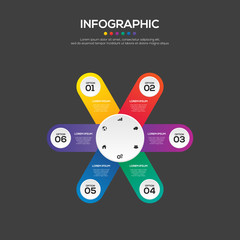 Infographic business report template layout design element vector