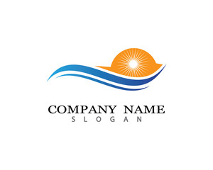 Ocean logo template