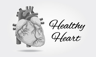 Healthy heart poster with picture of heart