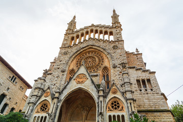 Soller Cathedral Front View in Mallorca