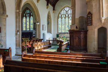 St James The Elder Nave and Pulpit Horton England