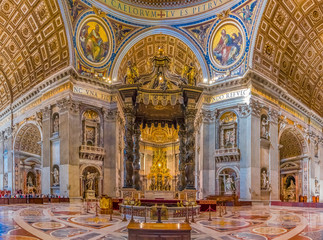 The altar of Saint Peter's Basilica in Vatican