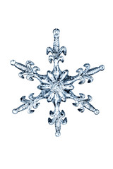 Snow flake isolated