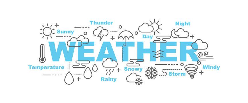 weather vector banner