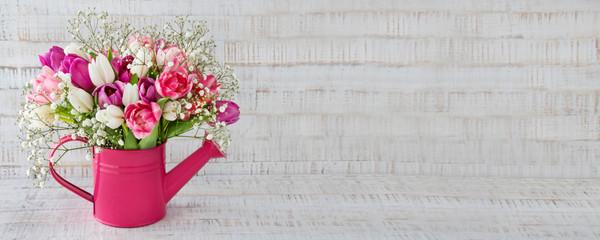 Blumenstrauß - Tulpen - Panorama