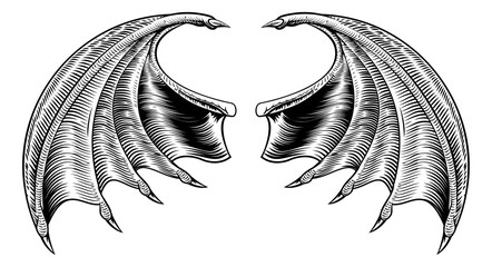 Bat or Dragon Wings