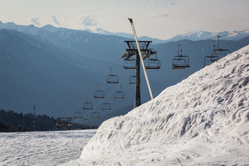 Ski Resort Gazprom, Krasnaya Polyana, Sochi National Park, Russia.