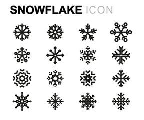 Vector line snowflake icons set