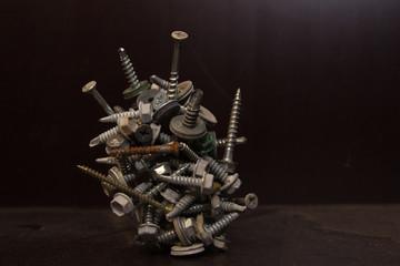 Screws on magnet