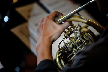 playing on french horn