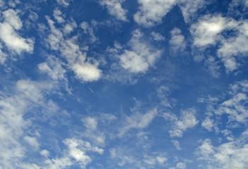 Sky, blue sky, white clouds, naturally.