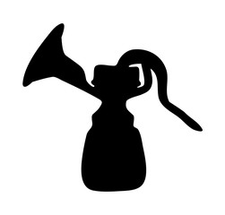 breast pump silhouette vector symbol icon design.