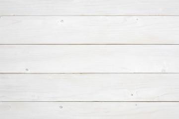 top view horizonta blank white vintage wood table, wall or floor
