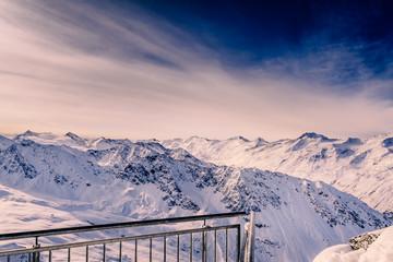 Abendstimmung, Ötztaler Alpen, Panorama, Winter