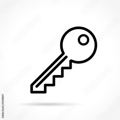 Line Art Key : Quot key thin line icon 스톡 이미지 로열티프리 벡터 파일 fotolia