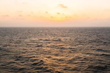 Beauty sky in the open sea.