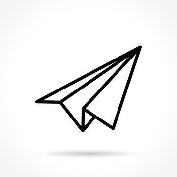 paper plane thin line icon
