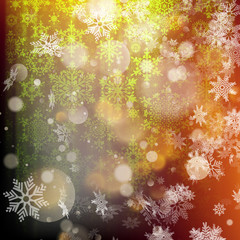 Bokeh christmas lights background. EPS 10