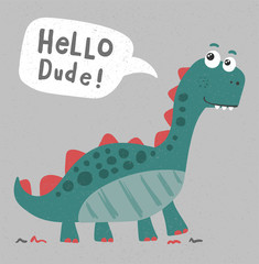 cool, cute dinosaur illustration
