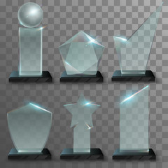 Realistic glass awards
