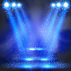 party, stage, disco, light, spotlights shining background