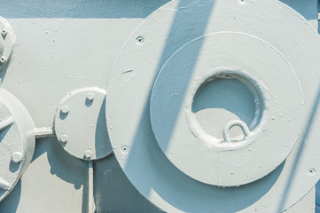 Detail of old machine,close up for background pattern.