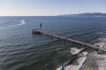 Venice Pier Aerial in Los Angeles California
