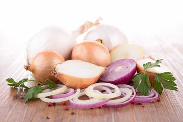 Fototapeta garlic and onion obraz