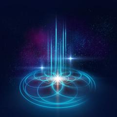 Sacred geometry symbols and elements background. Alchemy, religi