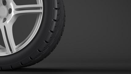 Reifen mit schwarzem Hintergrund
