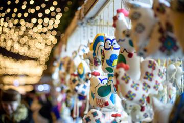 christmas market. decoration . Colorful decorations
