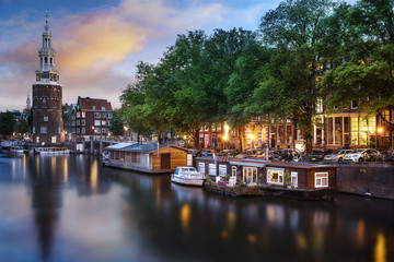 Poster Amsterdam Amsterdam Canal and Light