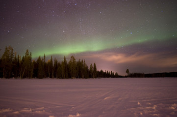 northern lights in Luosto, Lapland