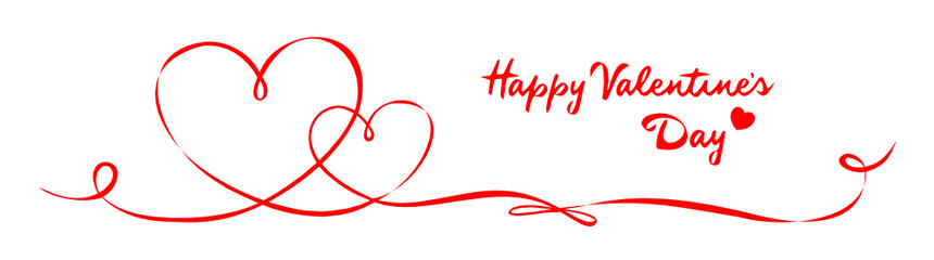 Schleifenband Valentinstag