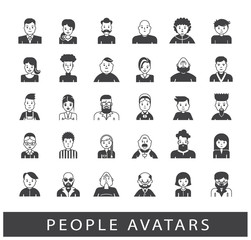 Set of people avatars. Collection of avatars related to various types of  people.